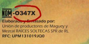 NOM von Raíces Soltecas, OX für Oaxaca, 347 die Nummer, daher O347X. (© 7Espinas)