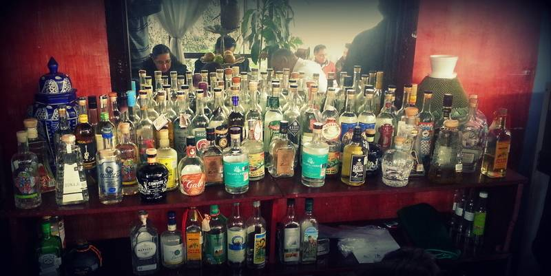 Collection of different Mezcales.