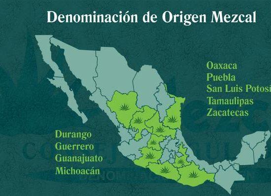 Denomination of Origin (DO) of Mezcal.