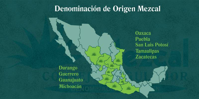 Denomination of Origin (DO) of Mezcal.